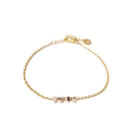 Label kiki label kiki bracelet jade shell gold