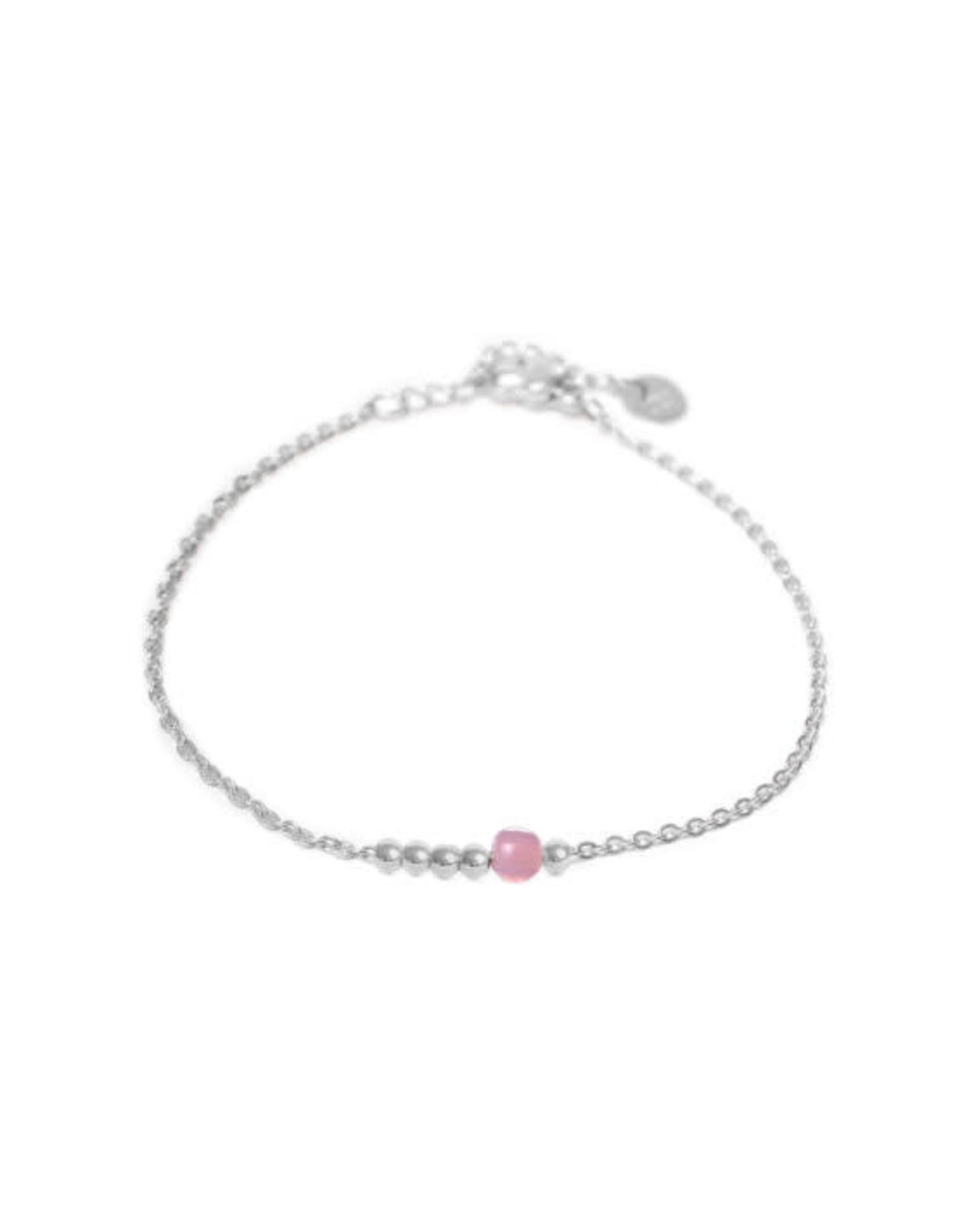 Label kiki label kiki bracelet lilac dot silver