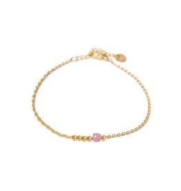 Label kiki label kiki bracelet lilac dot gold