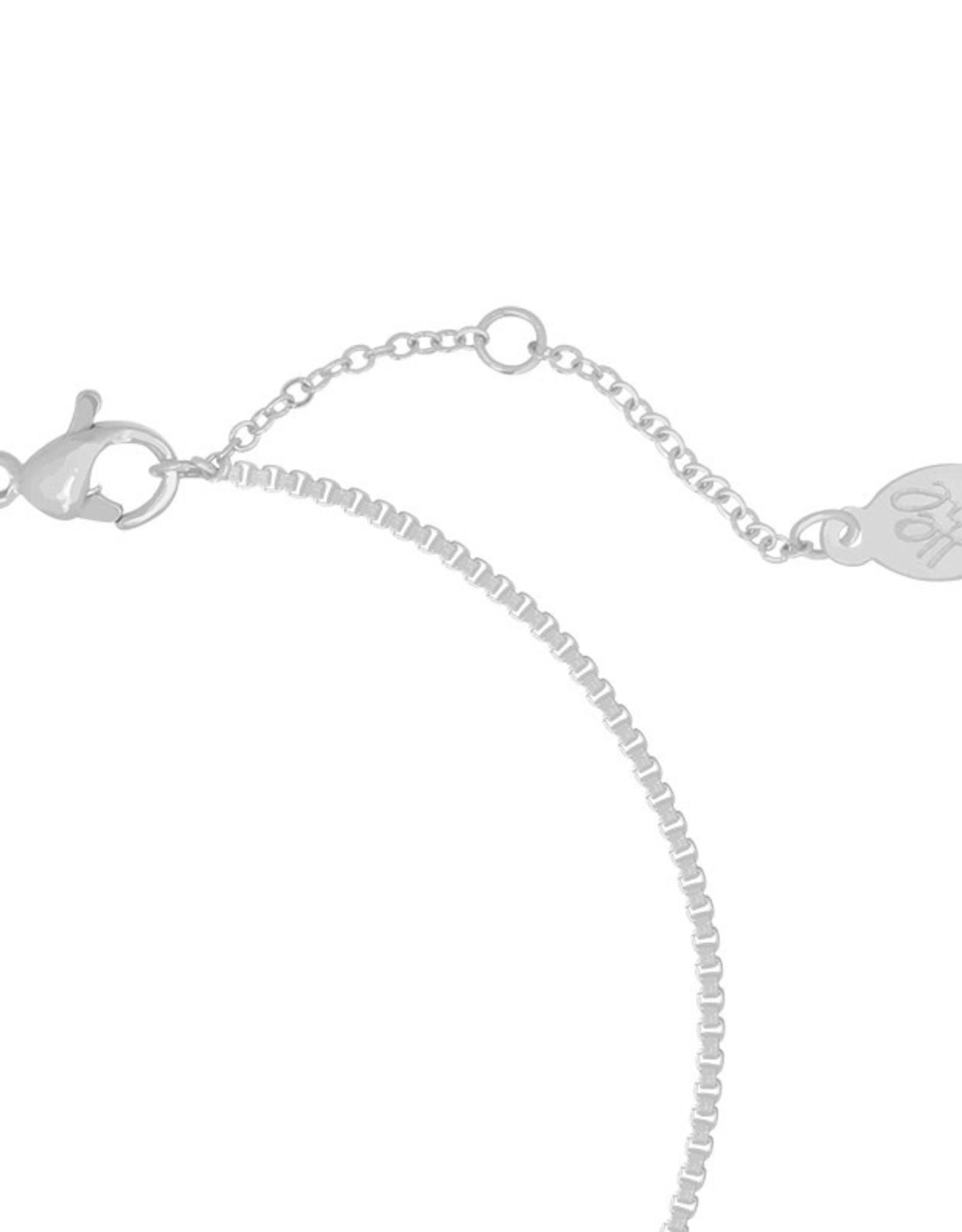 Yehwang Yehwang armbandje bowed bar silver