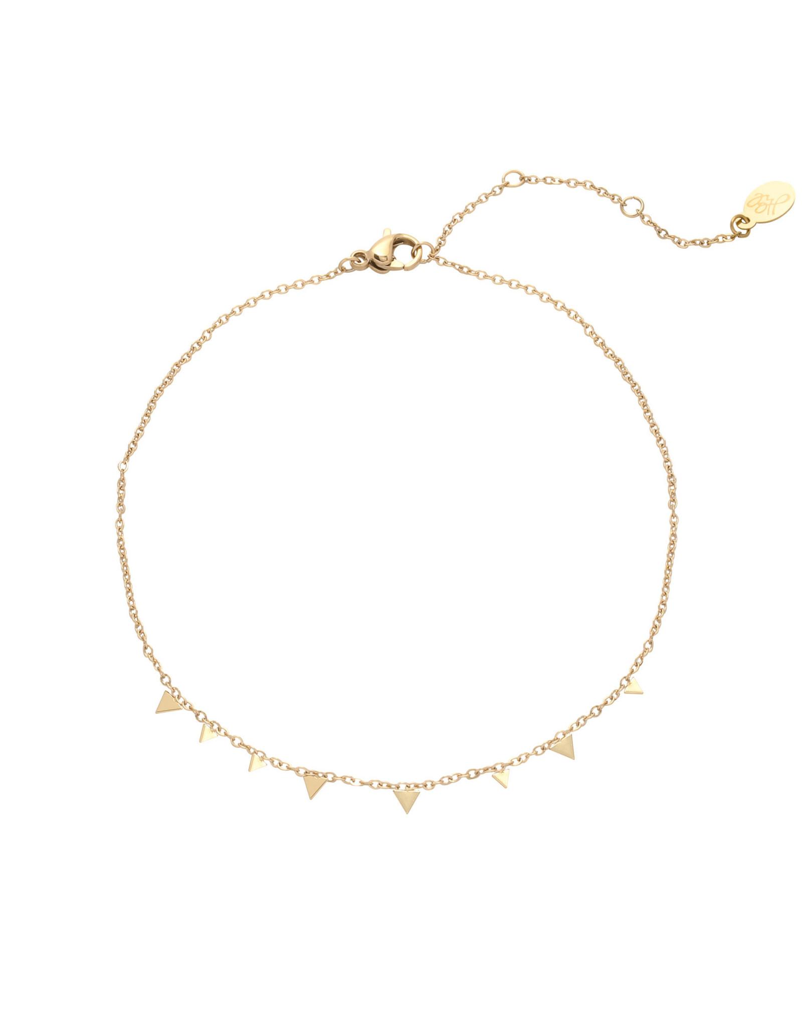 Yehwang Yehwang armband triangle confetti gold
