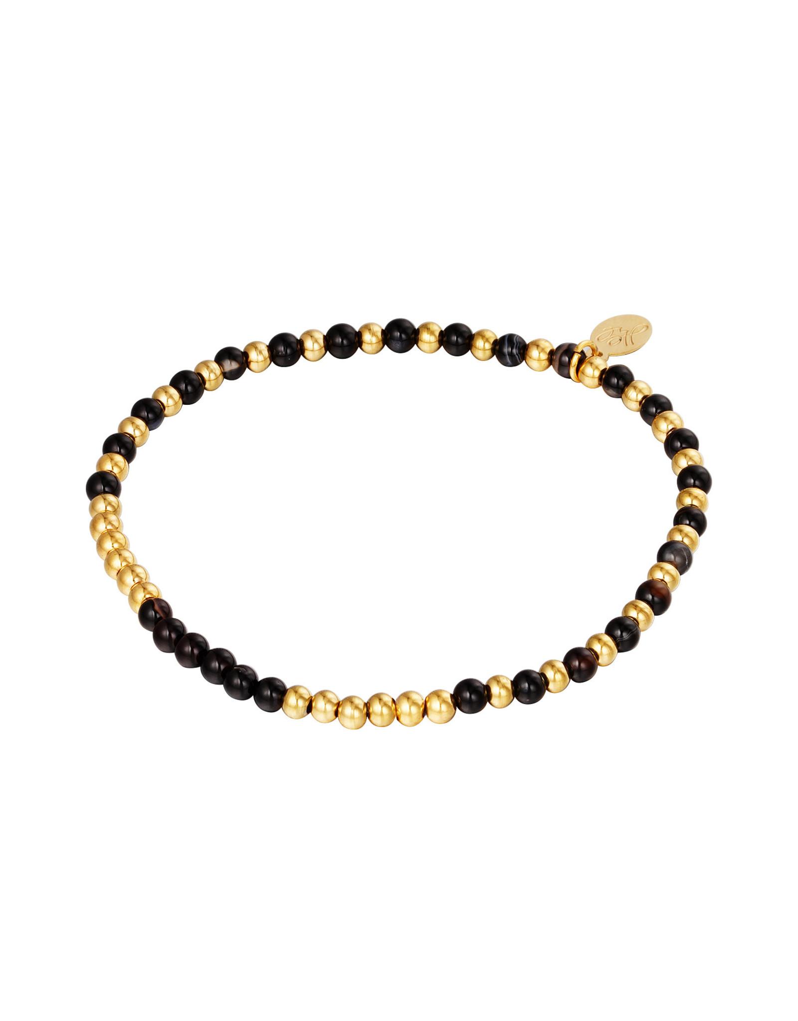 Yehwang Yehwang armbandje beads spheres gold