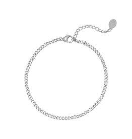 Yehwang Yehwang armbandje Tiny Plain Chains silver