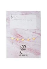 Yehwang Yehwang armbandje love  hearts extra gold
