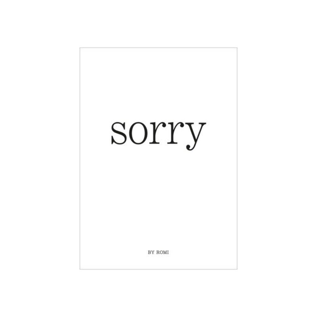 By romi by romi kaart a6 + gouden envelop: sorry