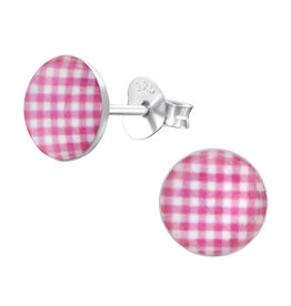 Precious jewels precious jewels oorstekers roze ruitjes