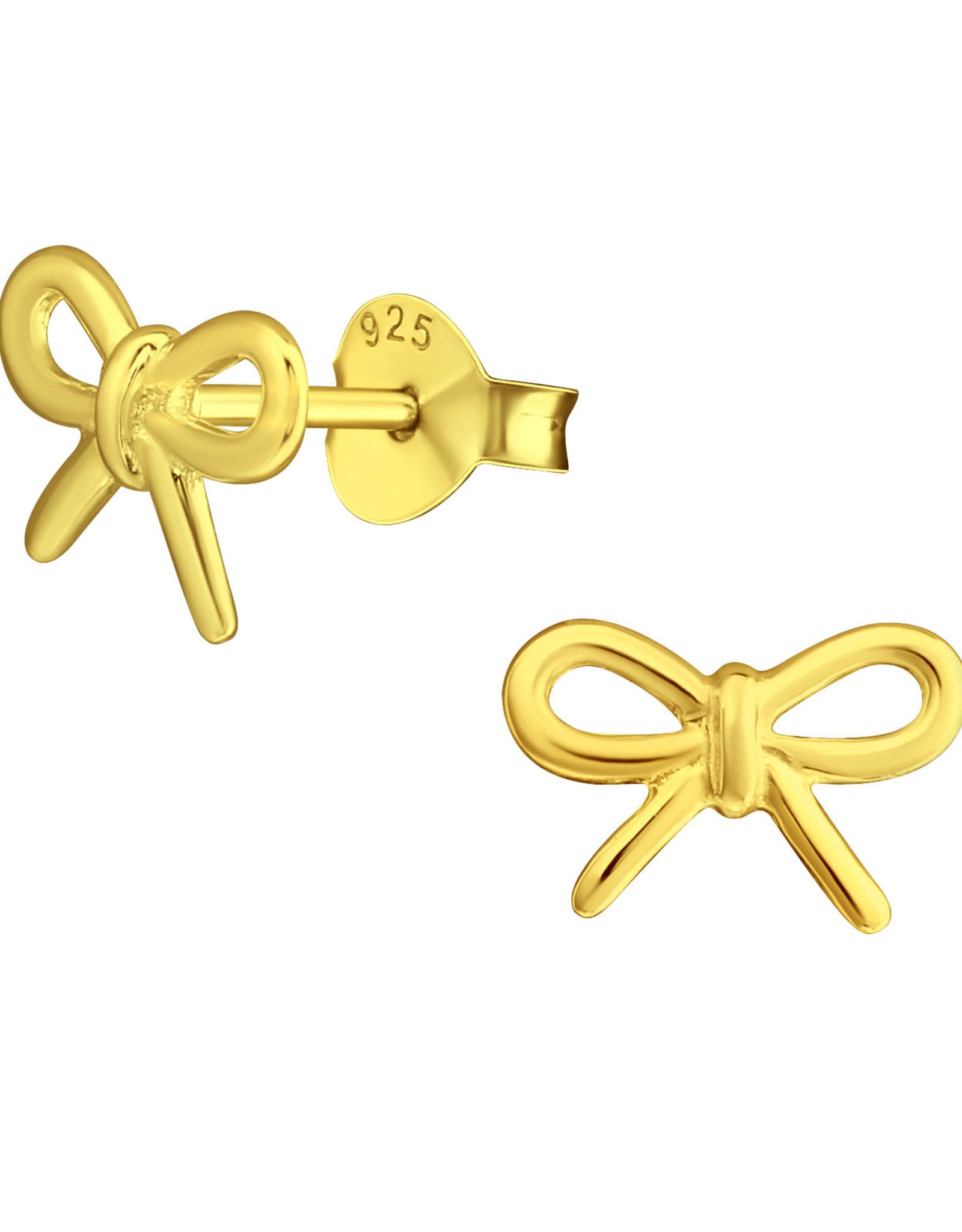 Precious jewels precious jewels oorstekers strikjes goudkleurig