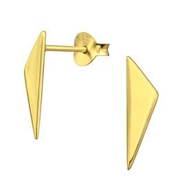 Precious jewels precious jewels oorstekers driehoeken goudkleurig