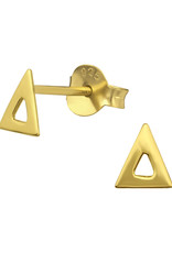 Precious jewels precious jewels oorstekers driehoek open goudkleurig