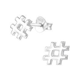 Precious jewels precious jewels oorstekers hashtag zilverkleurig