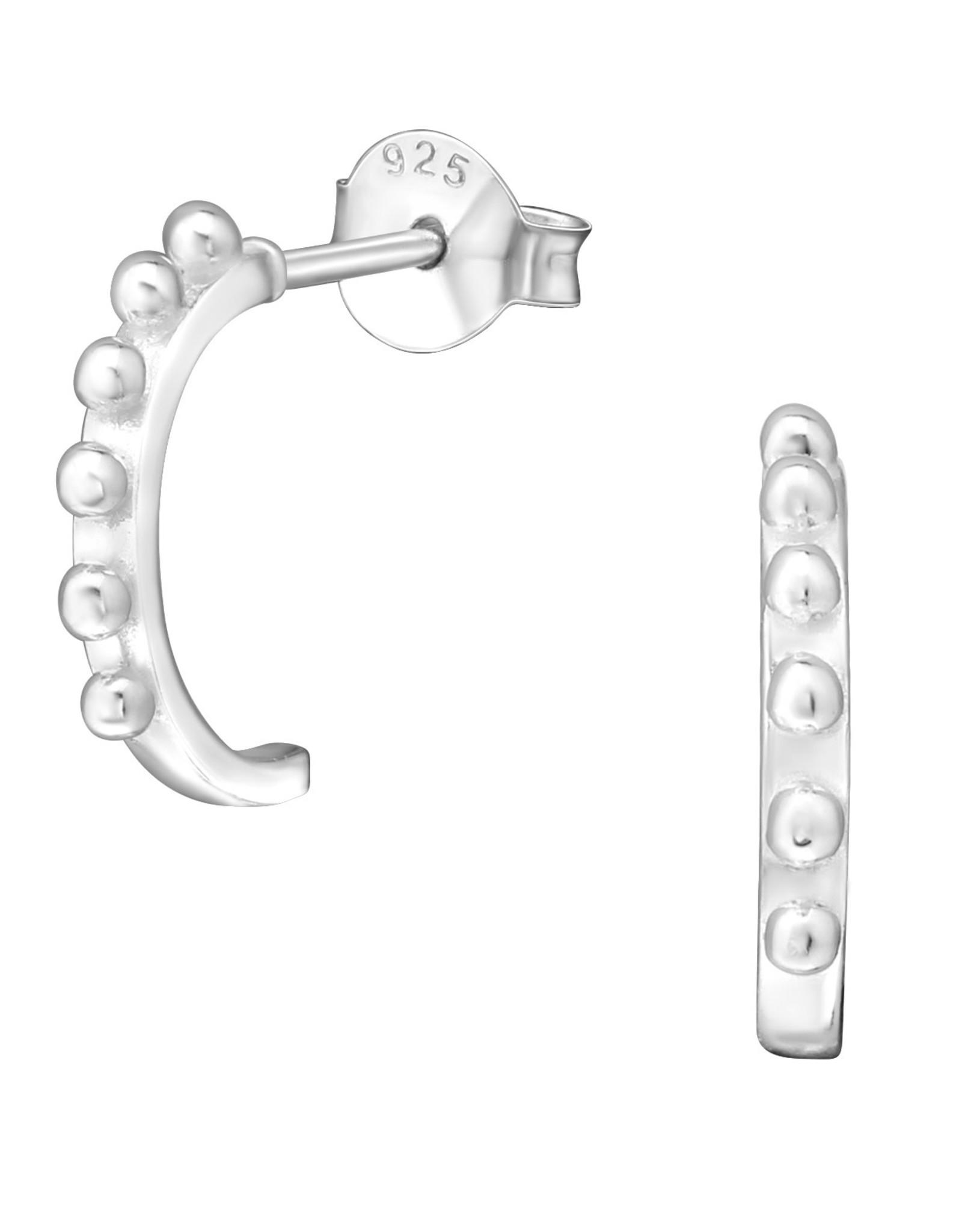 Precious jewels precious jewels oorstekers ring met bolletjes zilverkleurig