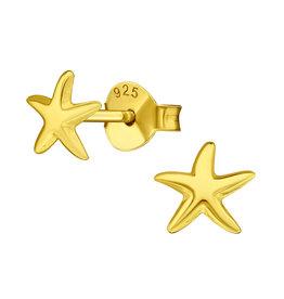 Precious jewels precious jewels oorstekers zeesterren goudkleurig