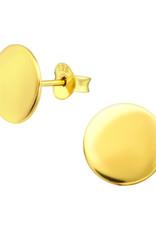 Precious jewels precious jewels oorstekers cirkel goudkleurig 001