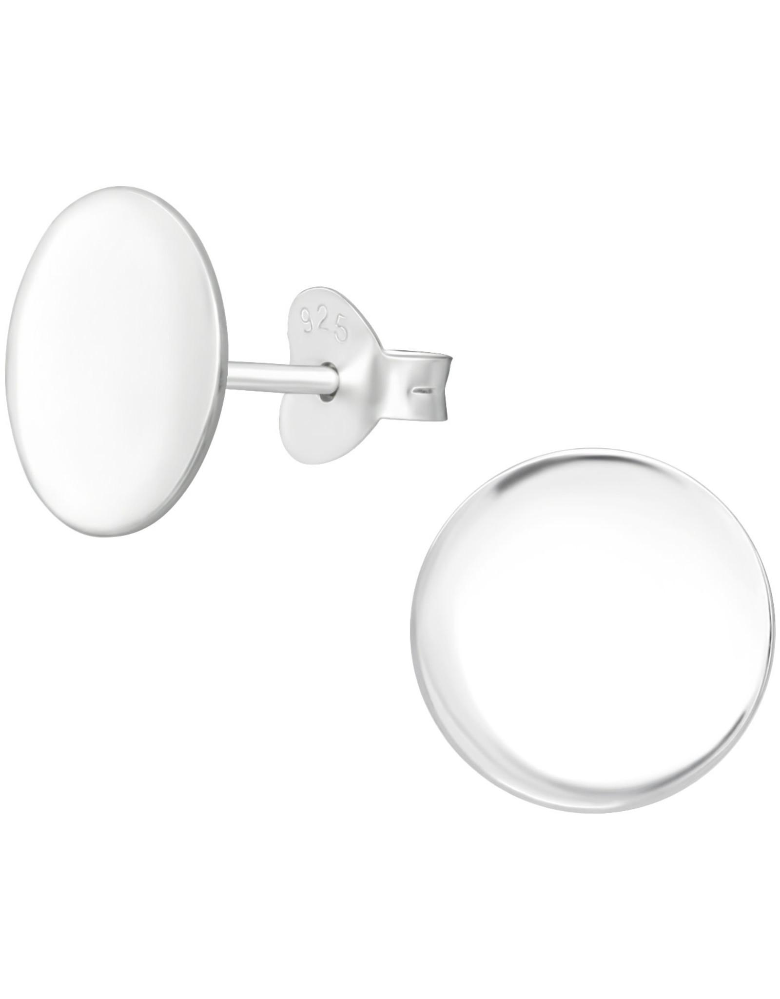 Precious jewels precious jewels oorstekers cirkel zilverkleurig 001