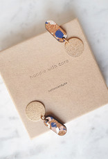 """Cotton candy cotton candy """"HWC"""": oorhangers terrazzo gold"""