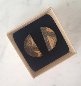 "cotton candy ""HWC"": oorstekers halve maan triangles"
