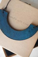 "cotton candy ""HWC"": ketting navy blue 001"