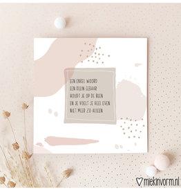 Miek in vorm Miek in vorm: dubbele kaart met envelop een enkel woord , ...
