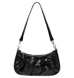 Yehwang Yehwang handtasje krokko blinkend zwart