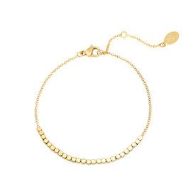 Yehwang Yehwang armbandje Line Of Dots gold
