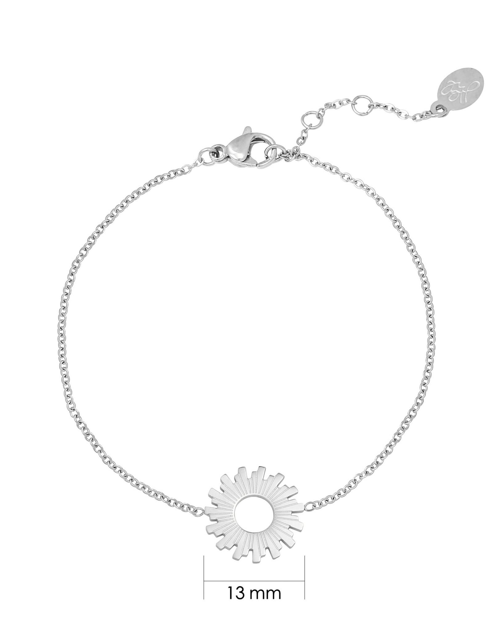 Yehwang Yehwang armbandje swirl silver