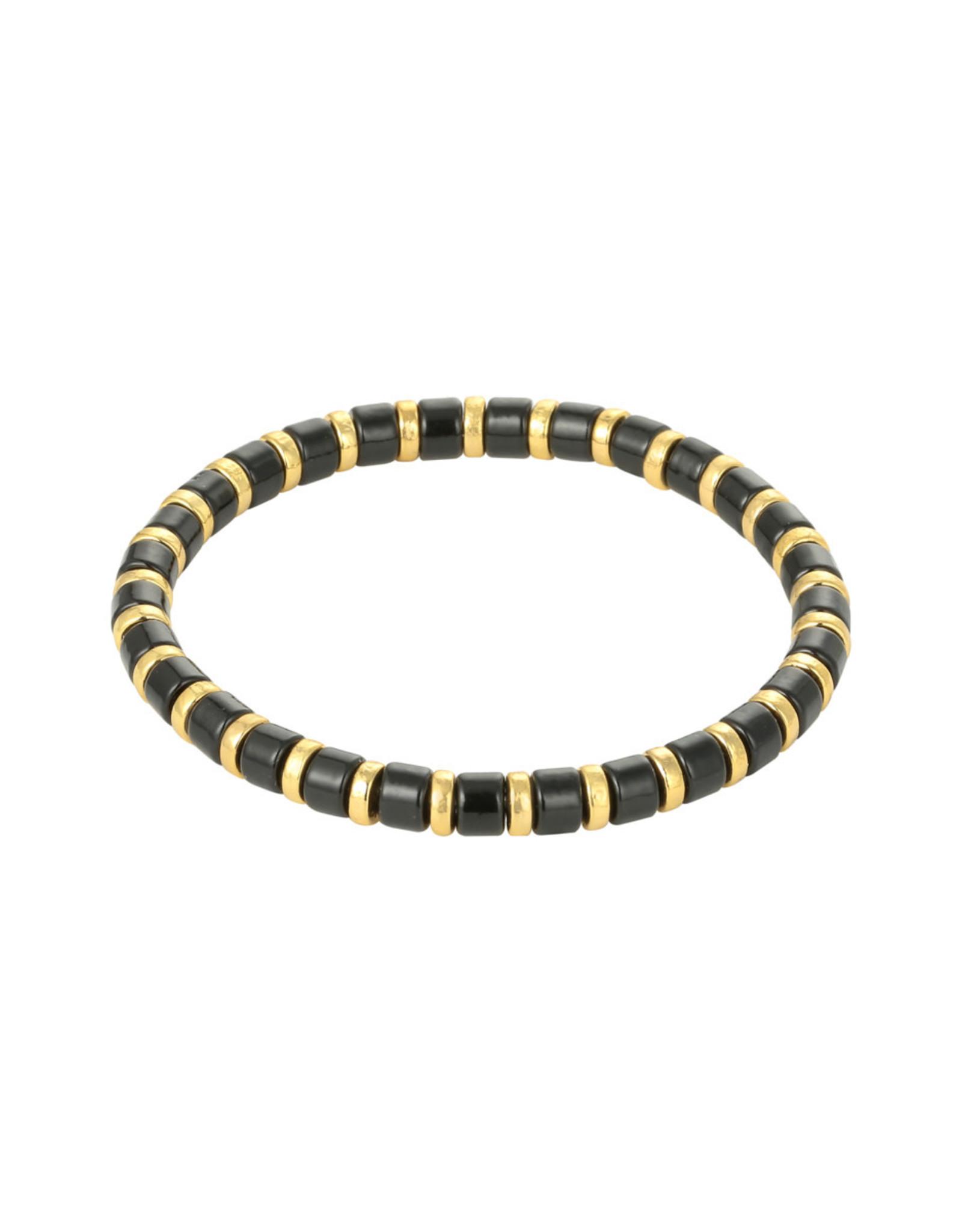 Yehwang Yehwang armbandje Sugar Beads zwart