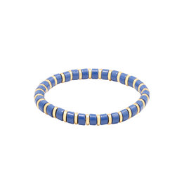 Yehwang Yehwang armbandje Sugar Beads blauw