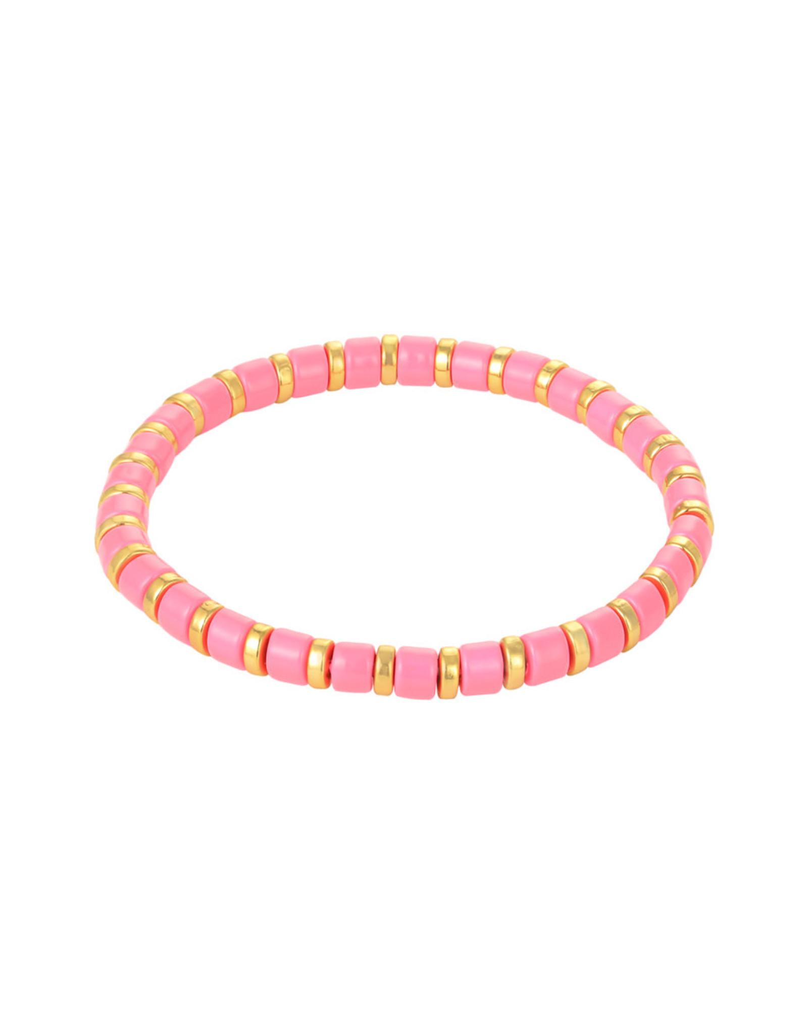 Yehwang Yehwang armbandje Sugar Beads roze