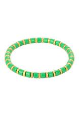 Yehwang Yehwang armbandje Sugar Beads groene