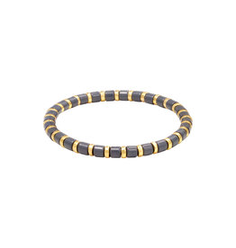 Yehwang Yehwang armbandje Sugar Beads donkerblauw