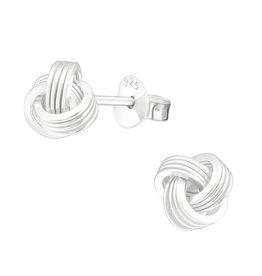 Precious jewels precious jewels oorbellen knots zilverkleurig