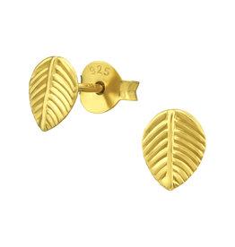 Precious jewels precious jewels: oorstekers blaadjes goudkleurig
