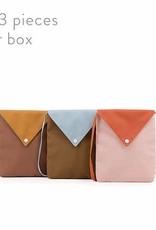 Sticky Lemon Sticky lemon Envelope bag peony pink + gold green