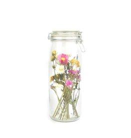 Wildflowers by floriëtte wildflowers by floriëtte droogbloemen in glazen pot met deksel