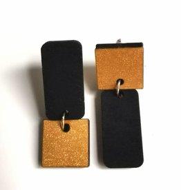 mona lisa juwelen Mona Lisa Juwelen Upside down zwart/goud