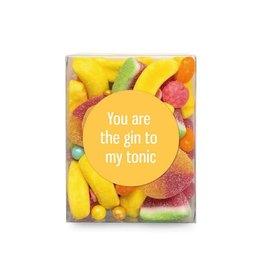 Veel liefs voor jou Veel liefs voor jou: snoepjes You are the gin to my tonic