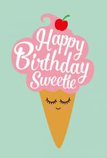 studio inktvis kaart a6 studio inktvis: happy bday sweety ijsje