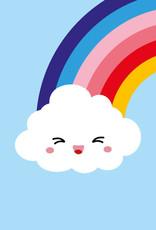 studio inktvis kaart a6 studio inktvis: wolk en regenboog