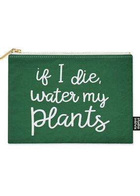 studio inktvis Studio Inktvis: CANVAS ETUI IF I DIE WATER MY PLANTS