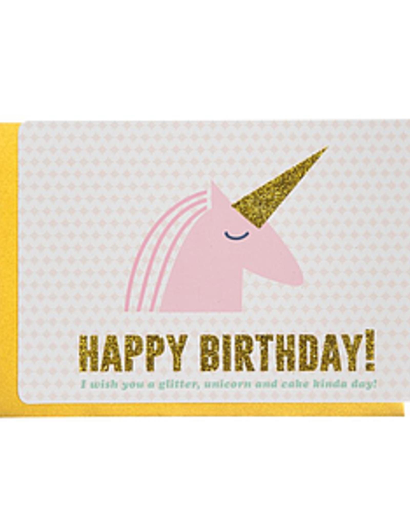 Enfant Terrible Dubbele wenskaart Enfant terrible: Happy birthday unicorn