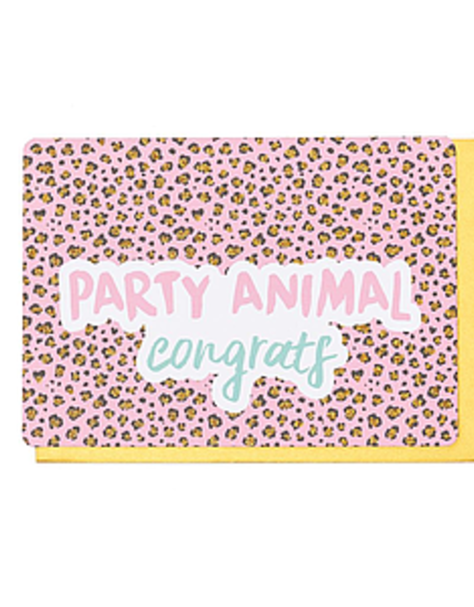 Enfant Terrible Dubbele wenskaart Enfant terrible: party animal congrats
