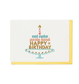 Enfant Terrible Dubbele wenskaart Enfant terrible: eat cake and happy birthday