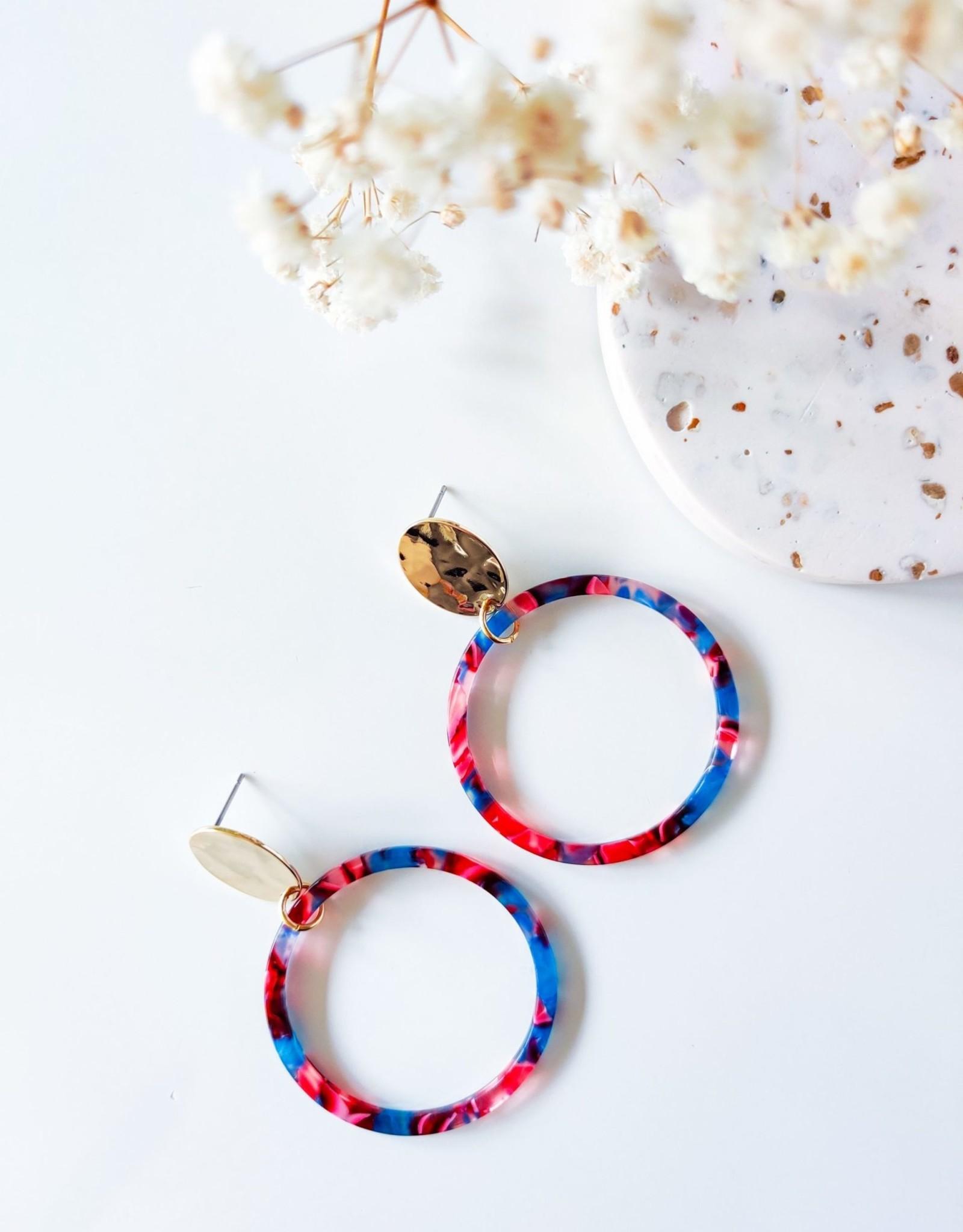 Isa en Roza Isa en Roza 062 oorstekers goudkleurig kleurtjes