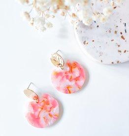 Isa en Roza Isa en Roza 063  oorstekers goudkleurig kleurtjes