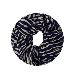 Musthaves Scrunchie animal fever 02 (donkerblauw)