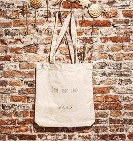 Lief leven lief leven: Canvas Tas • Stap voor stap