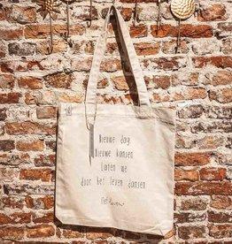 Lief leven lief leven: Canvas Tas • Nieuw dag. Nieuwe kansen