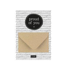 By romi By romi: A6 Geldkaart Proud of you