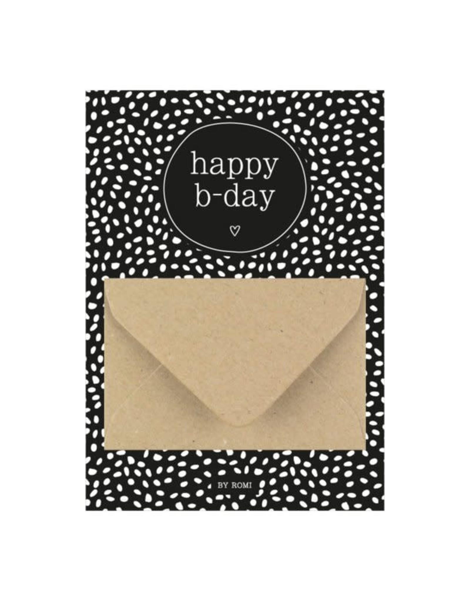 By romi By romi: A6 Geldkaart Happy B-day