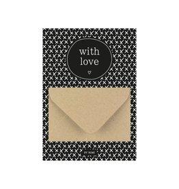 By romi By romi: A6 Geldkaart with love